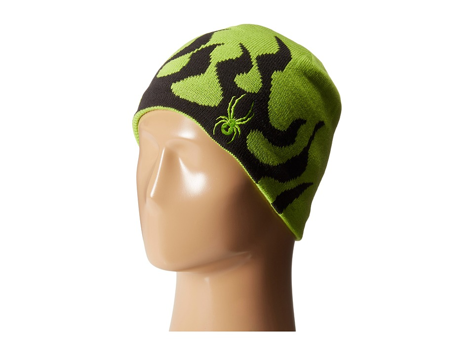 Spyder Kids - Mini Fire Hat (Toddler/Little Kids/Big Kids) (Theory Green/Black) Beanies