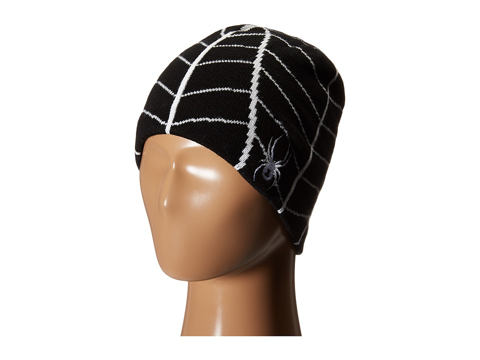 Spyder Kids - Mini Web Hat (Toddler/Little Kids/Big Kids) (Black/White) Beanies