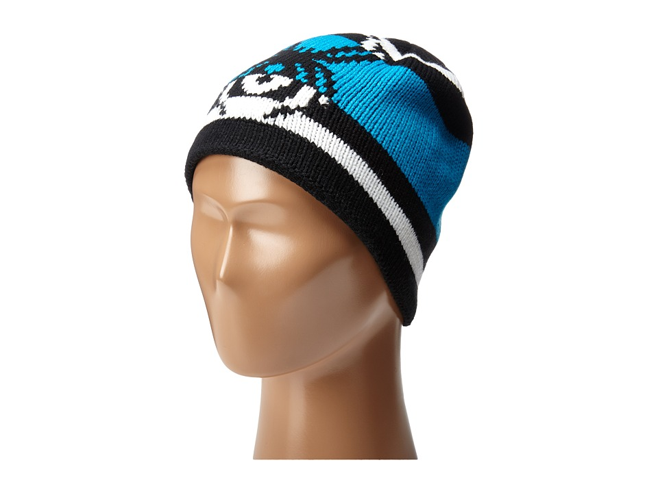 Spyder Kids - Mini Mission Hat (Toddler/Little Kids/Big Kids) (Black/White/Electric Blue) Beanies