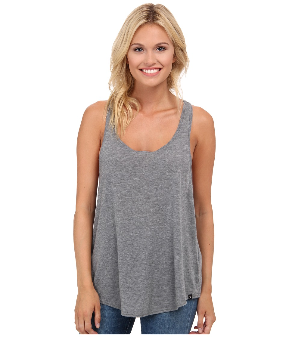 Hurley - Solid Dri-Fit Tank Top (Carbon Heather) Women's Sleeveless