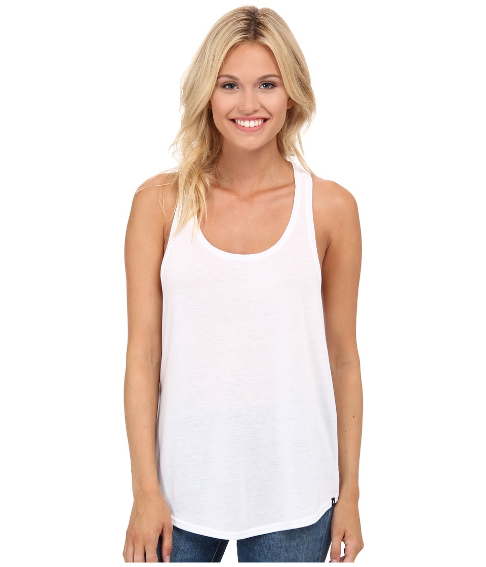 Hurley - Solid Dri-Fit Tank Top (White) Women's Sleeveless