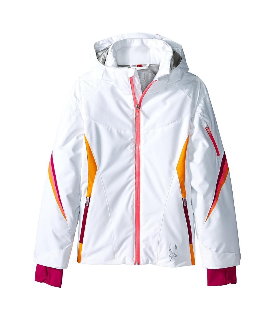 Spyder Kids - Pandora Jacket (Big Kids) (White/Bryte Bubblegum/Edge) Girl's Coat