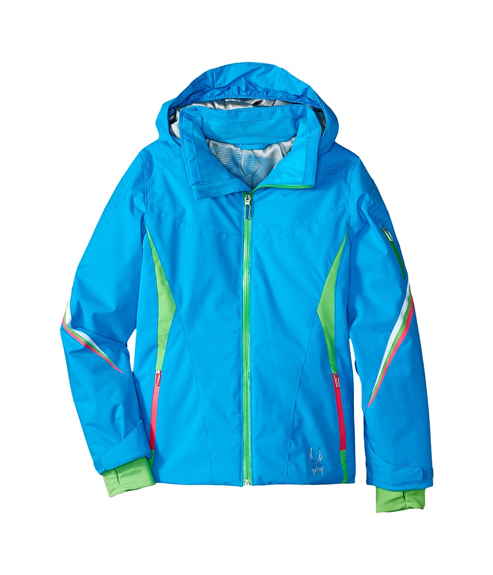 Spyder Kids - Pandora Jacket (Big Kids) (Riviera/Green Flash/Bryte Bubblegum) Girl's Coat