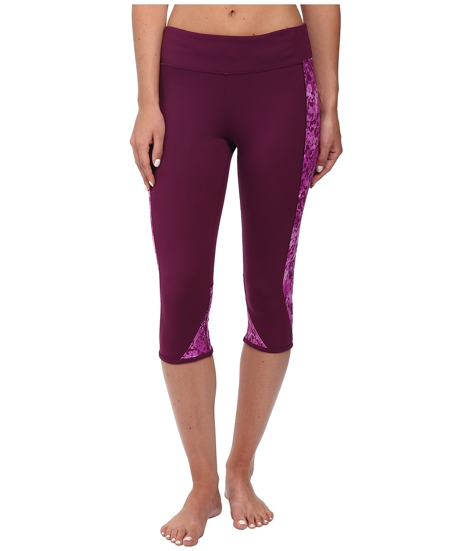 Hurley - Dri-Fit Crop Leggings (Mulberry) Women's Workout