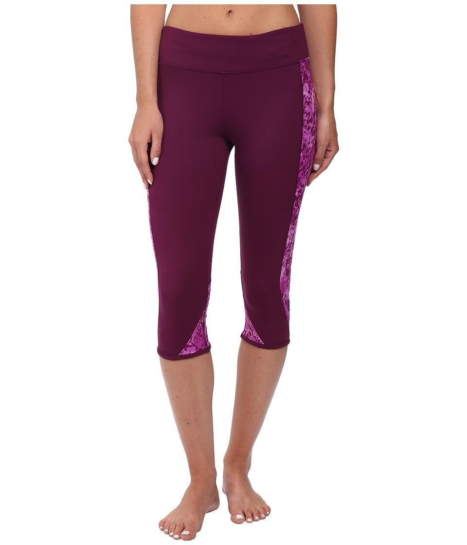 Hurley - Dri-Fit Crop Leggings (Mulberry) Women's Workout