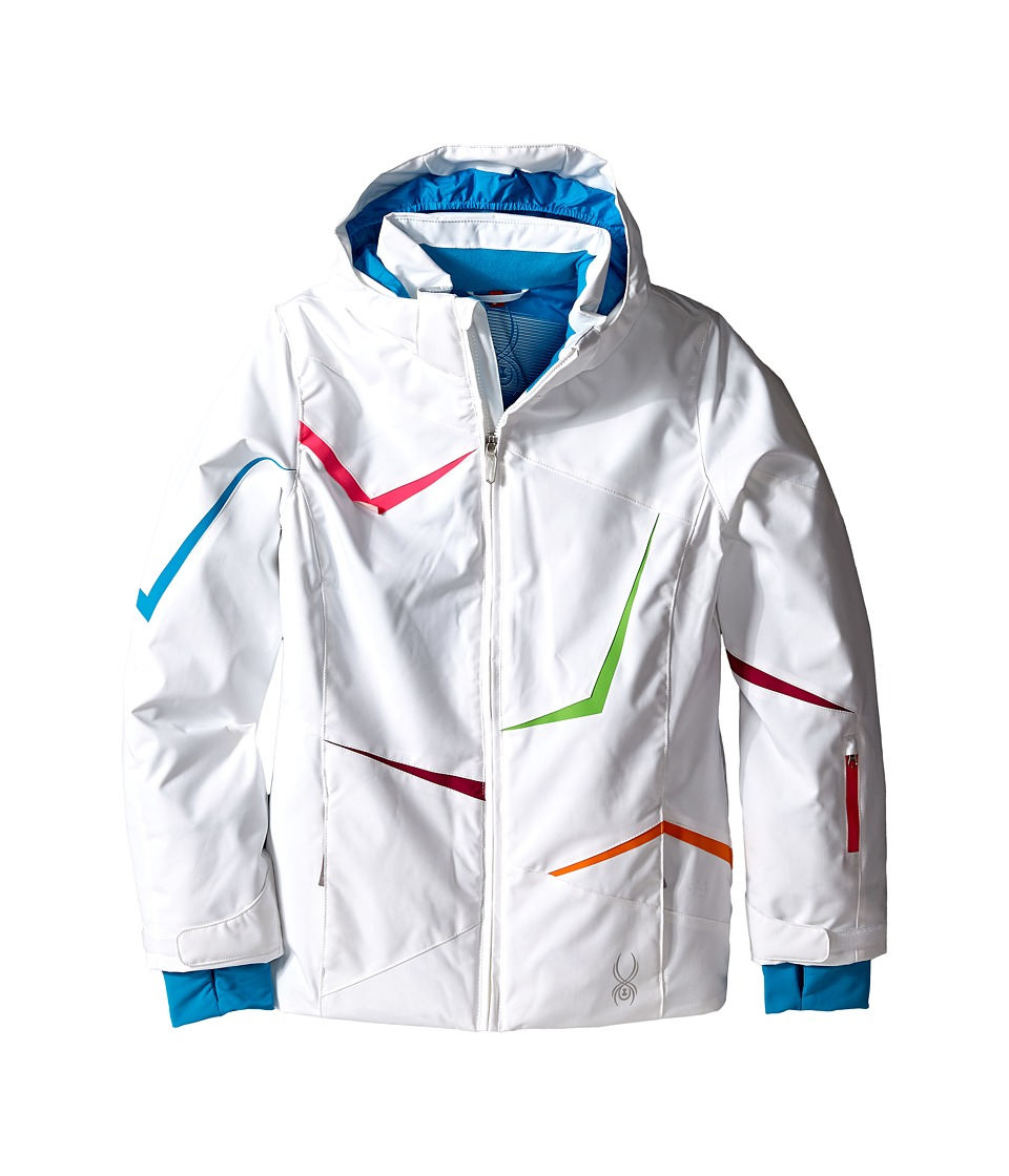 Spyder Kids - Tresh Jacket (Big Kids) (White/Riviera/Bubblegum) Girl