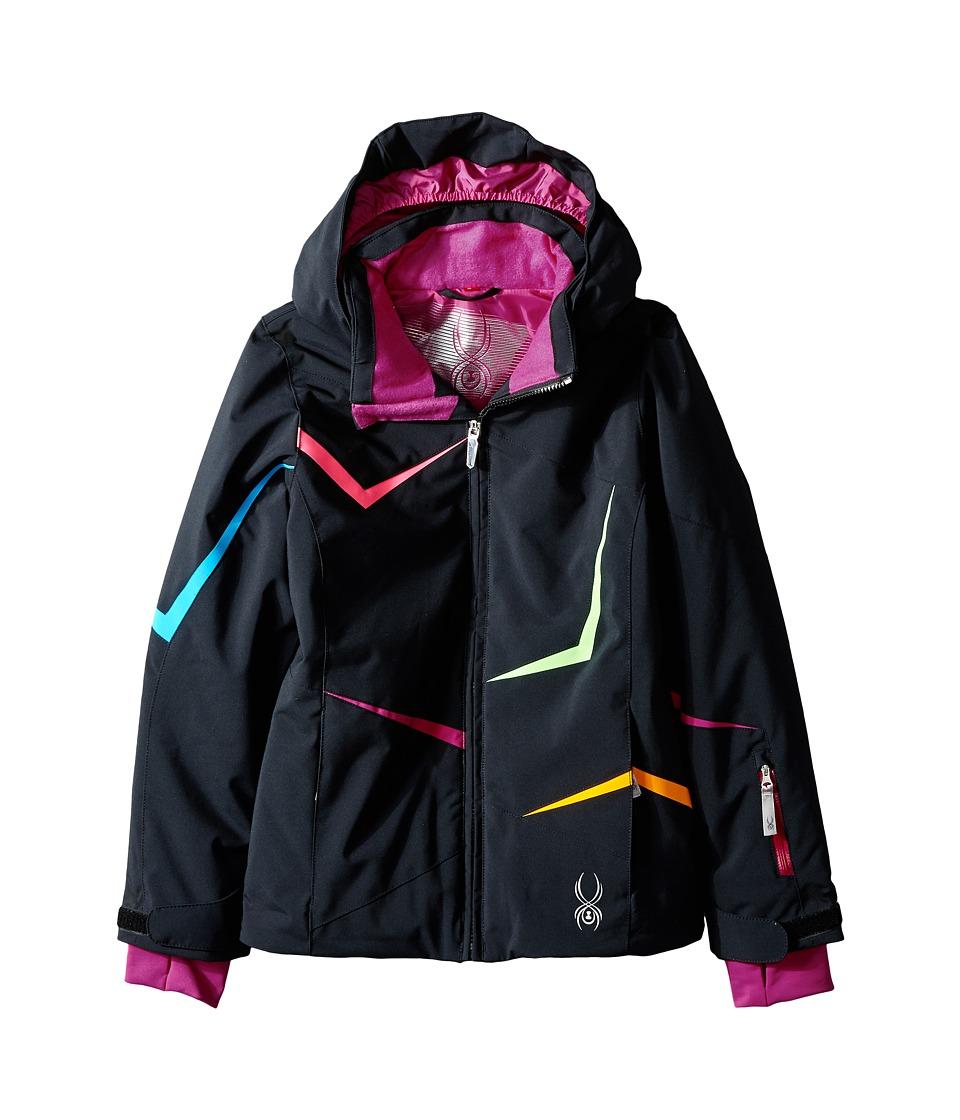Spyder Kids - Tresh Jacket (Big Kids) (Black/Wild/Riviera) Girl's Coat