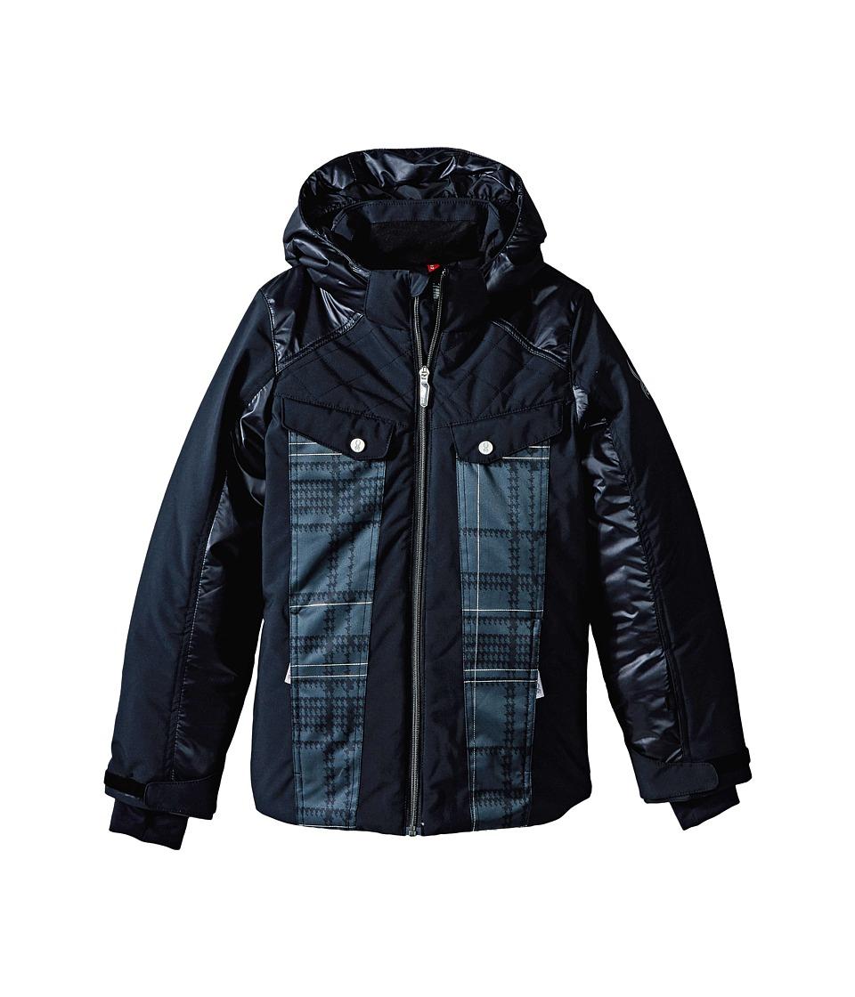 Spyder Kids - Mynx Jacket (Big Kids) (Black/Black Check Plaid Print) Girl's Coat