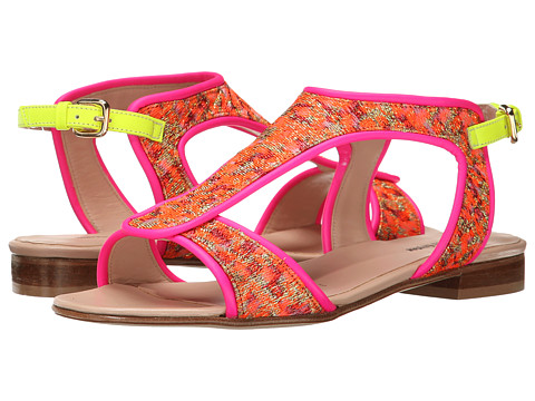 Markus Lupfer - ML133 (Pink Brocade) Women's Sandals