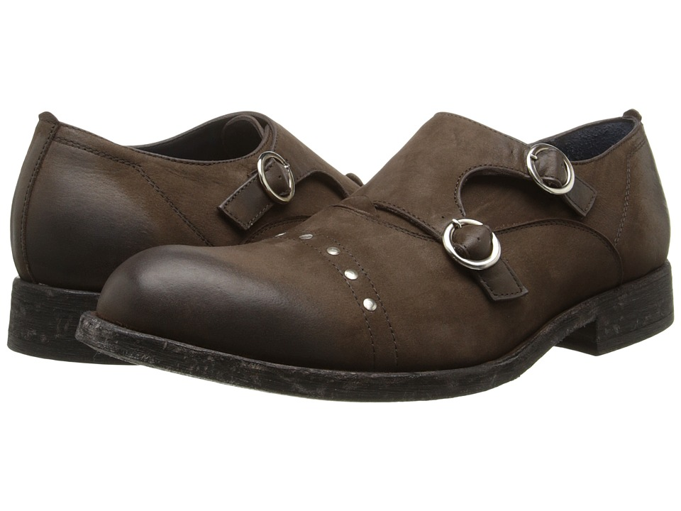 Messico - Eduardo (Brown Distressed Leather) Men's Dress Flat Shoes