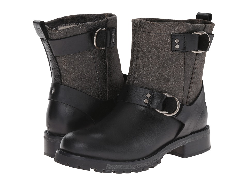 Woolrich - Baltimore (Black Crackle Leather) Women's Boots