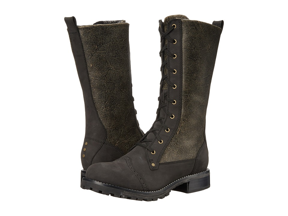 Woolrich Santa Fe (Black Crackle Leather) Women