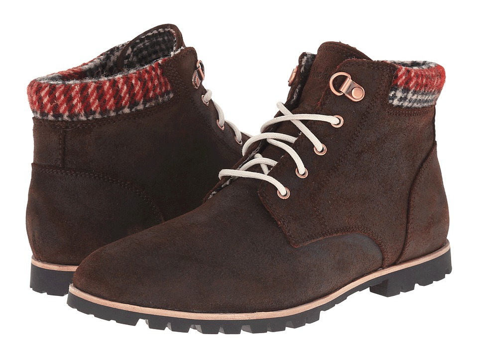 Woolrich Beebe Leather (Java/Red Plaid Wool) Women