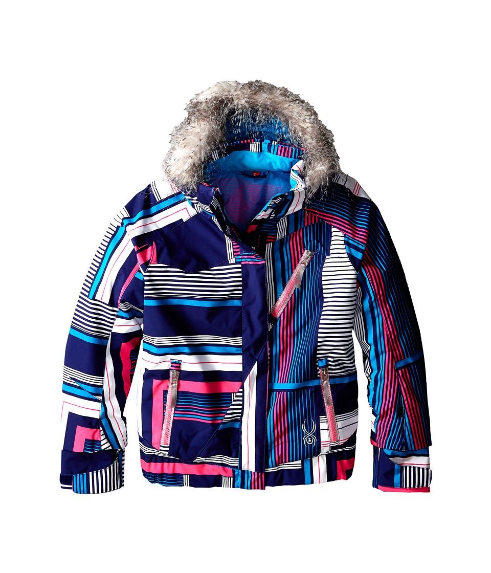 Spyder Kids - Lola Jacket (Big Kids) (Evening Vybe Print/Bryte Bubblegum/Riviera) Girl's Coat