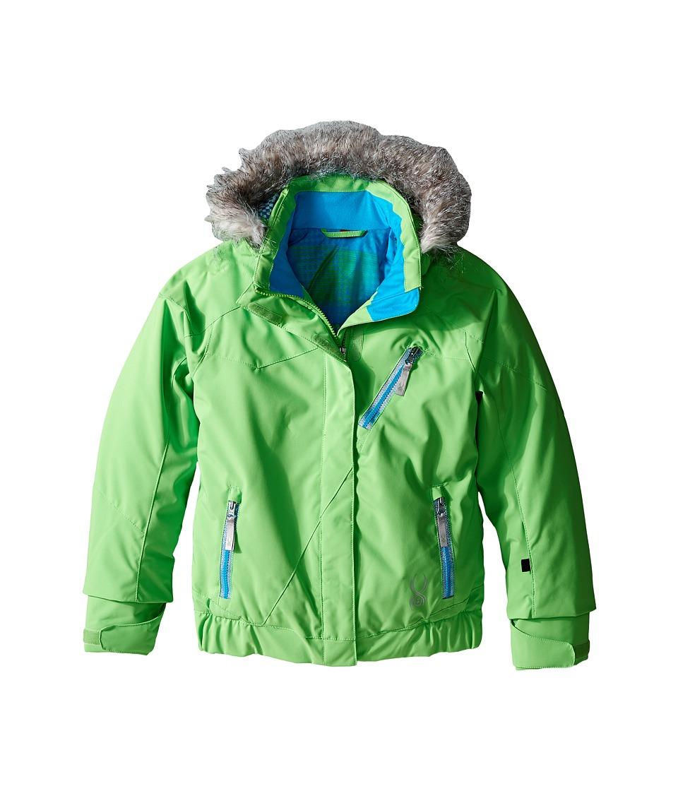 Spyder Kids - Lola Jacket (Big Kids) (Green Flash/Riviera/Riviera Diamond Print) Girl's Coat
