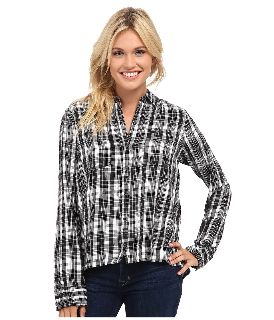 Hurley - Wilson Long Sleeve (White) Women's Long Sleeve Button Up