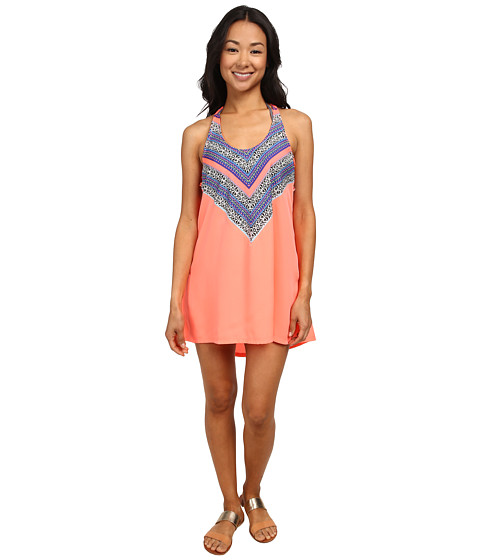 Rip Curl - Gypsy Queen Cover-Up (Hot Coral) Women's Swimwear