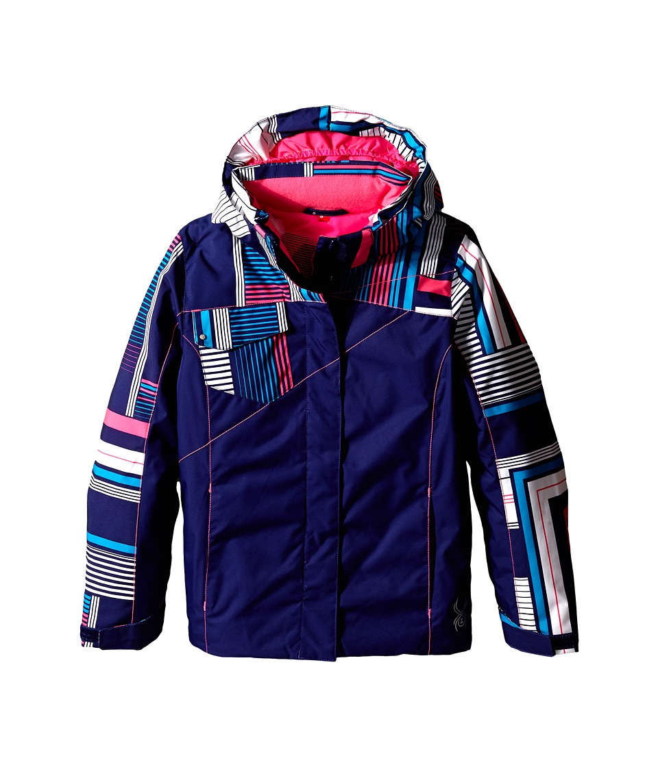 Spyder Kids - Dreamer Jacket (Big Kids) (Evening/Evening Vybe Print/Bryte Bubblegum) Girl