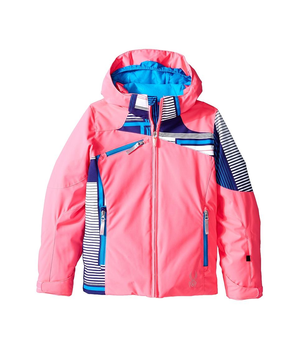Spyder Kids - Project Jacket (Big Kids) (Bryte Bubblegum/Evening Vybe Print/Riviera) Girl's Coat