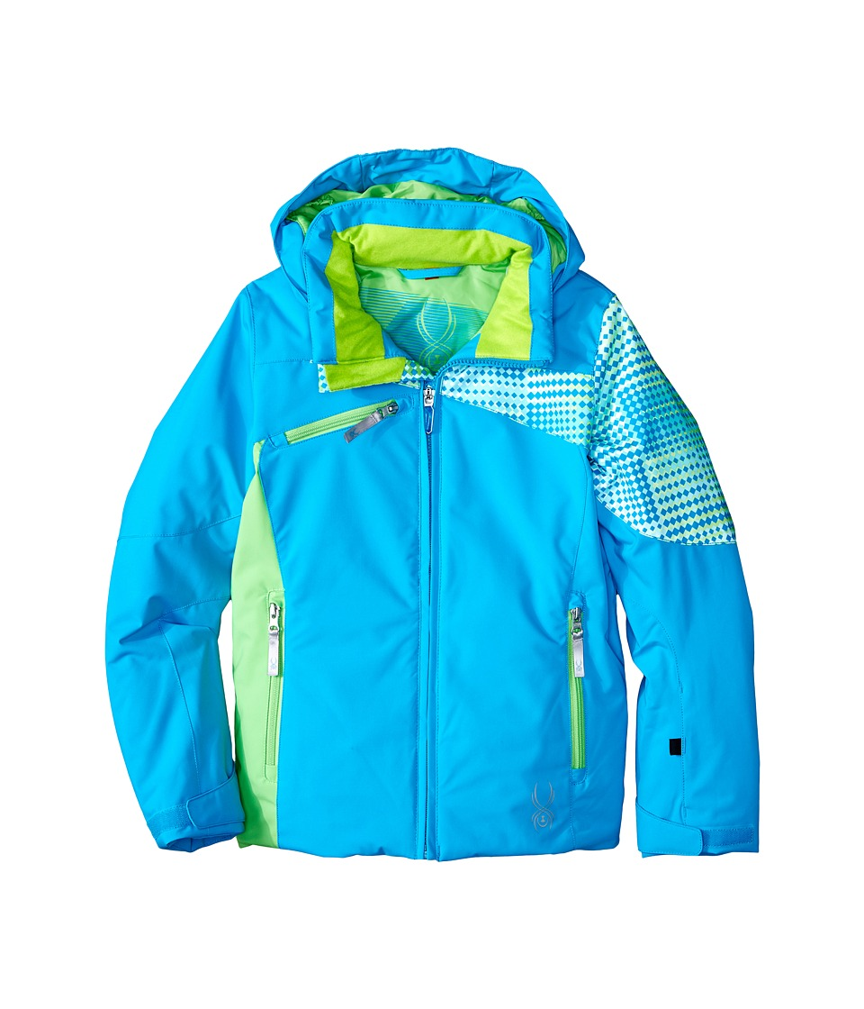Spyder Kids - Project Jacket (Big Kids) (Riviera/Riviera Diamond Print/Green Flash) Girl's Coat