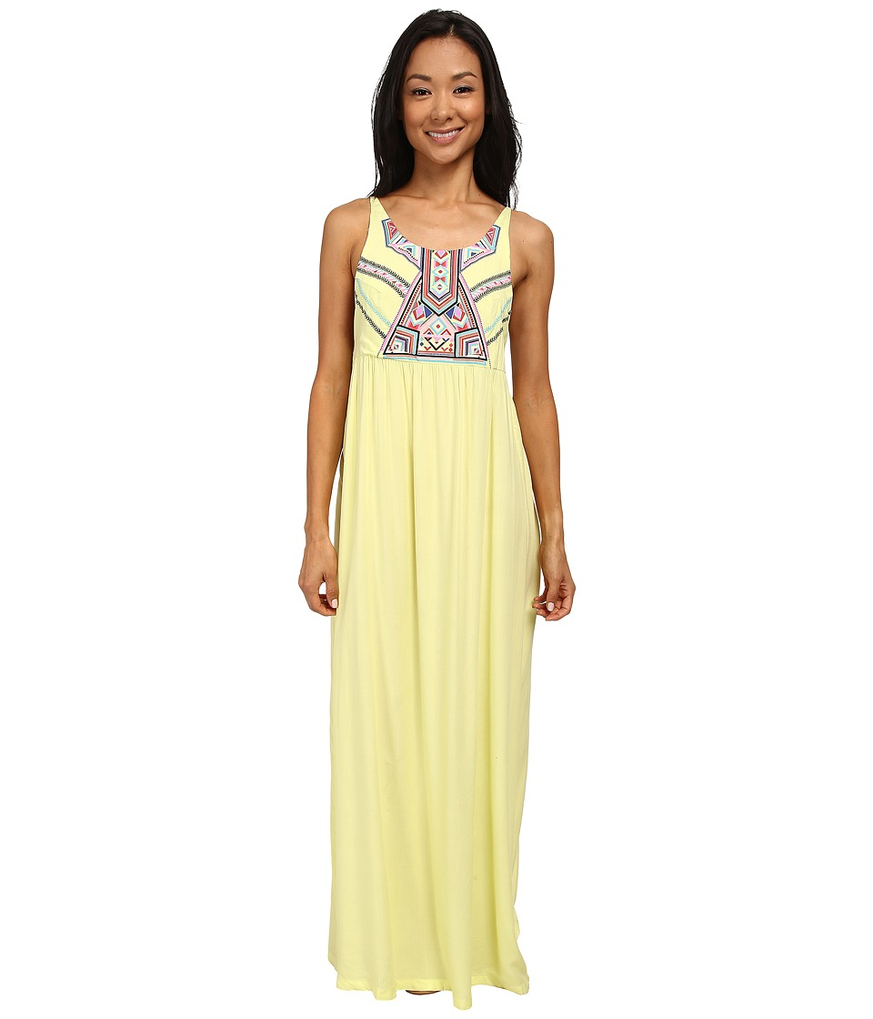 Rip Curl Nomadic Maxi Dress (Sunny Lime) Women