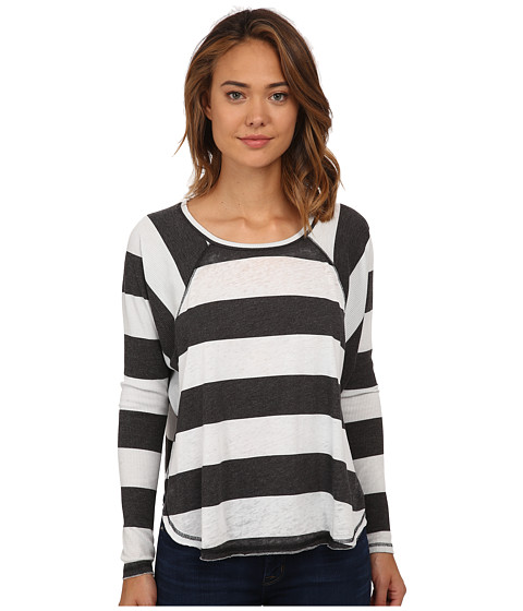 Billabong - See The Light Long Sleeve Pullover (Black/White) Women's Long Sleeve Pullover