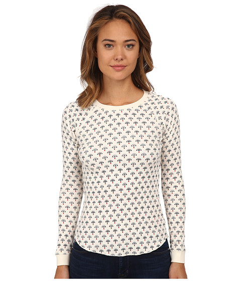 Billabong - Don't You Know Long Sleeve Thermal (White Cap) Women's Sweatshirt