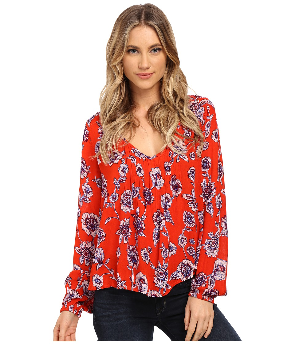 Billabong - Heart Strayed Top (Poppy) Women's Blouse