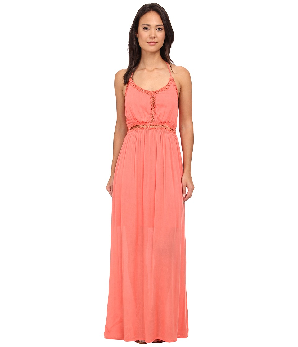 Rip Curl Earth Angel Maxi Dress (Hot Coral) Women