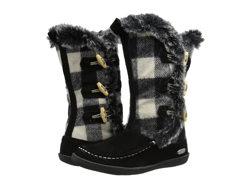 Woolrich - Elk Creek (Black/Black and White Buffalo Check Wool) Women's Boots