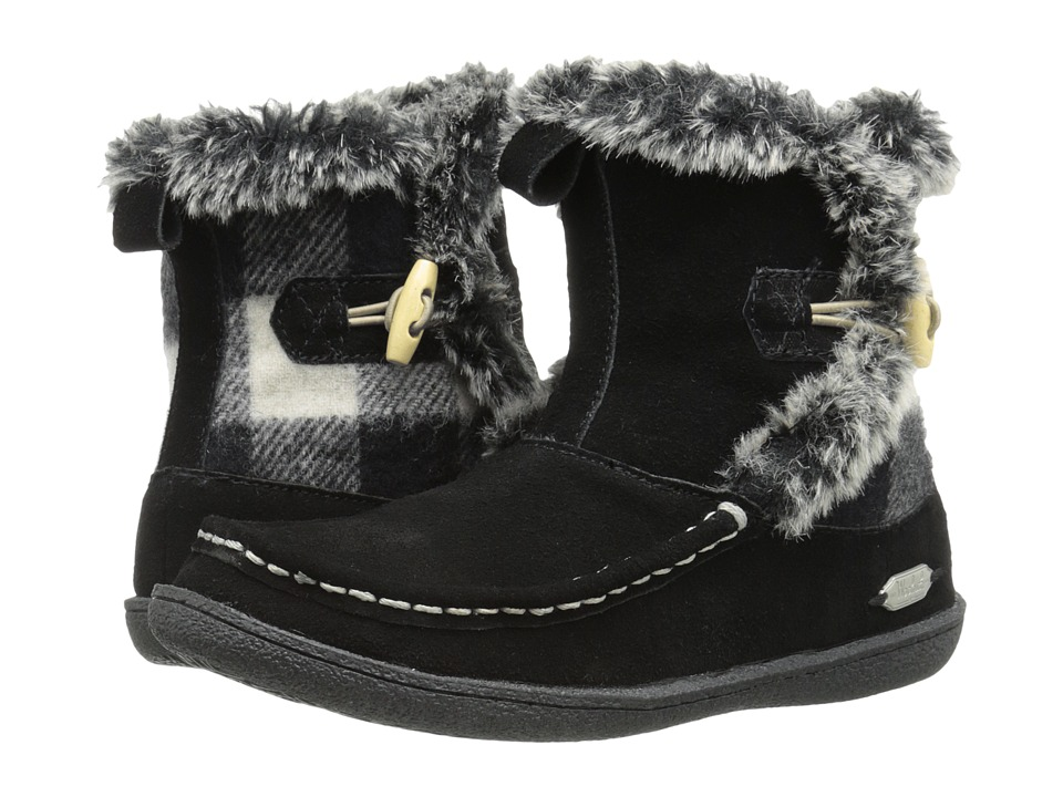 Woolrich - Pine Creek (Black/Black and White Buffalo Check Wool) Women's Boots
