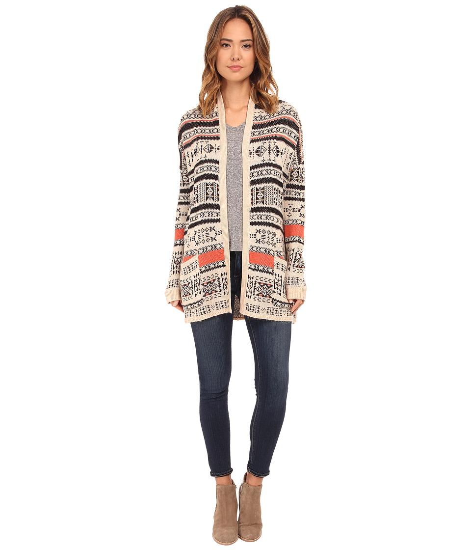 Billabong - Aztec Trek Cardigan (Oatmeal Heather) Women's Sweater