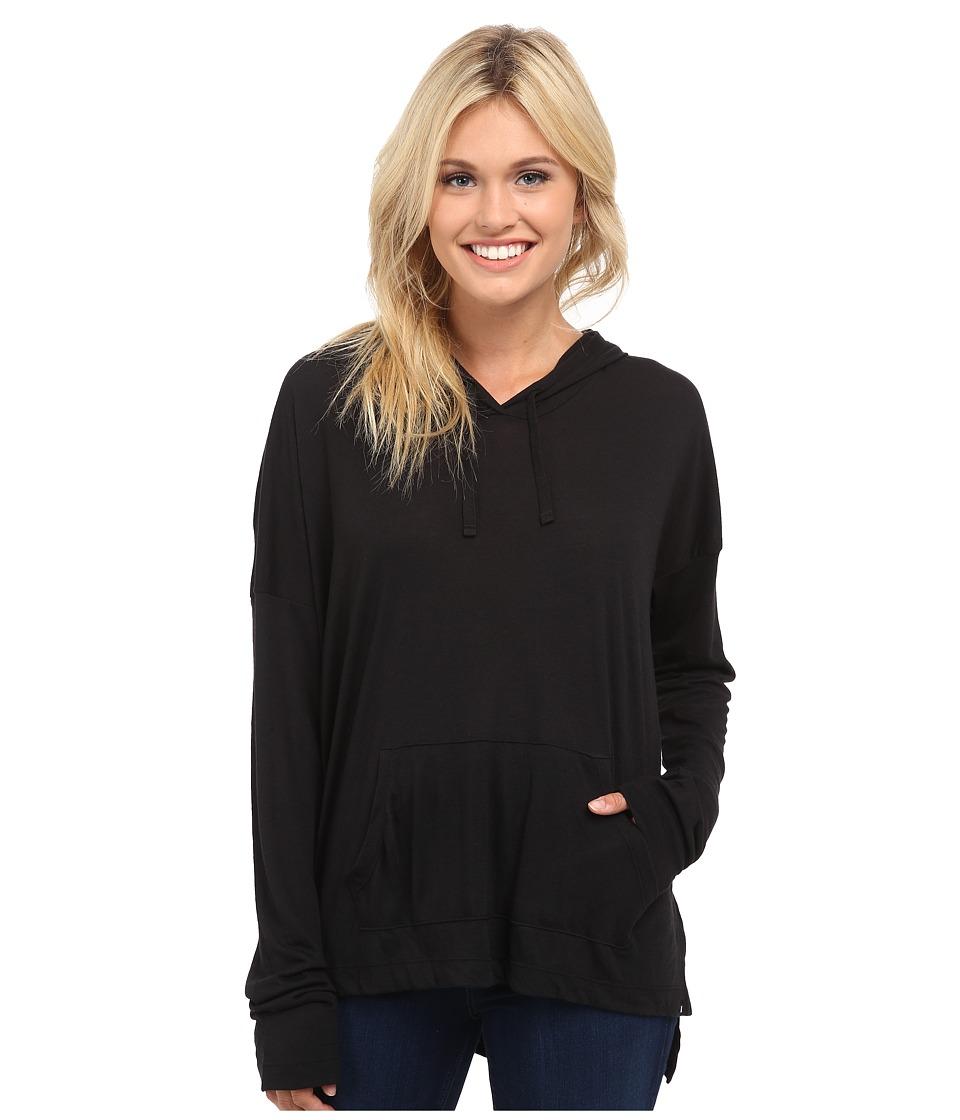 Hurley - Solid Novelty Pull Over Hoodie (Black) Women's Sweatshirt