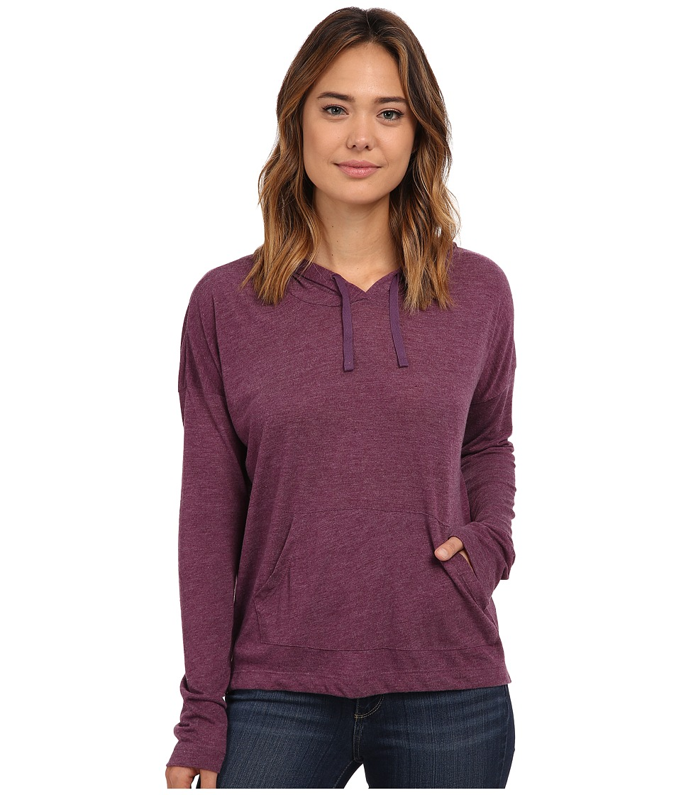 Hurley - Solid Novelty Pull Over Hoodie (Heather Mulberry) Women's Sweatshirt