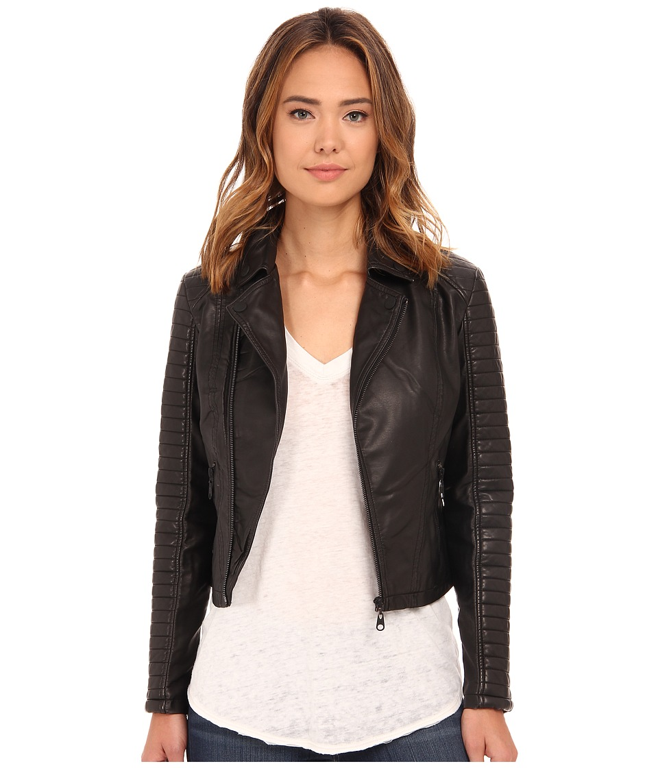 Billabong - Night Moves Motorcycle Jacket (Off Black) Women's Jacket