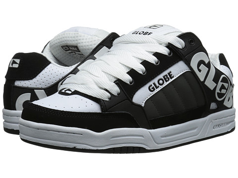 Globe - Tilt (Black/White/Charcoal) Men's Skate Shoes