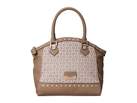 GUESS - Giavanna Dome Satchel (Taupe) Satchel Handbags