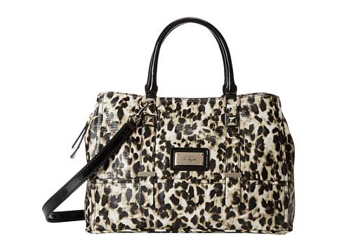 guess jizelle girlfriend satchel leopard satchel handbags on sale now