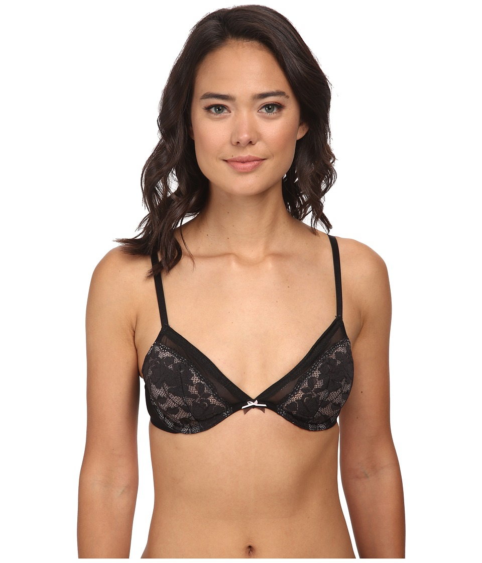 Betsey Johnson - Starlet Lace Plunge Bra 724801 (Black) Women's Bra