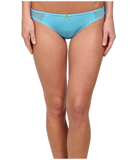 Betsey Johnson - Slinky Knit Lace Thong J2950 (Beachin Blues) Women's Underwear