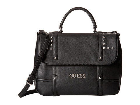 guess road to cali crossbody black satchel handbags on sale now $ 49