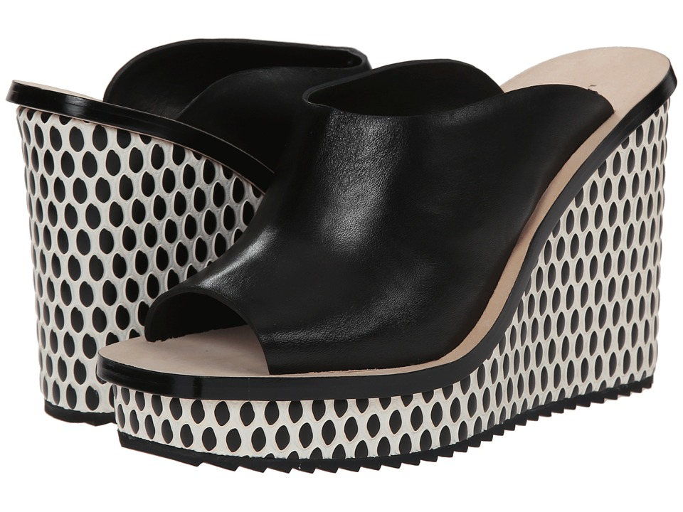Loeffler Randall Ingrid (Black/Cream/Black) Women