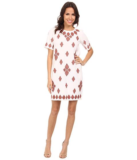 MICHAEL Michael Kors - Embroidered T-Shirt Dress (Grenadine) Women's Dress