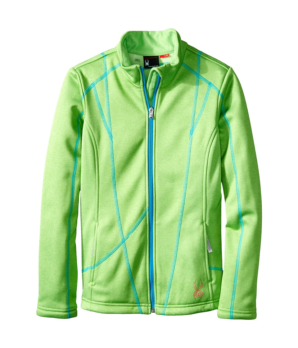Spyder Kids - Trio Fleece Jacket (Little Kids/Big Kids) (Green Flash/Riviera) Girl's Fleece