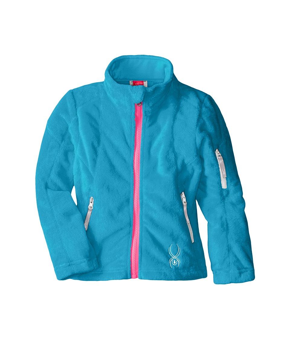 Spyder Kids - Caliper Fleece Jacket (Little Kids/Big Kids) (Riviera/Bryte Bubblegum/White) Girl