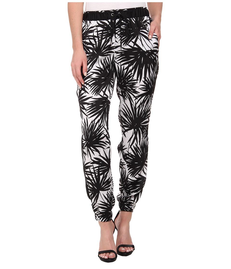 MICHAEL Michael Kors - Printed Track Pants (Black) Women's Casual Pants