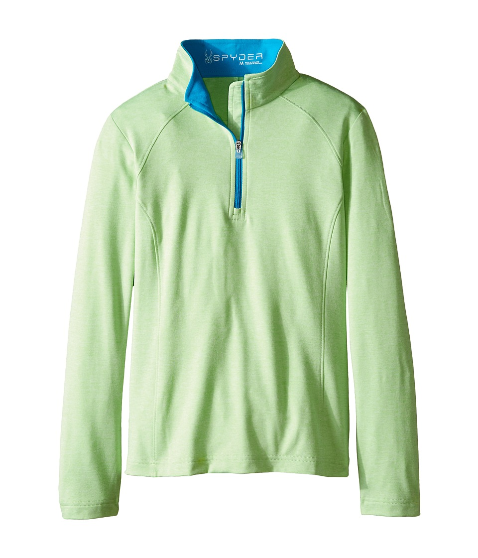 Spyder Kids - Cameo Poly Stretch T-Neck (Big Kids) (Green Flash/Riviera) Girl's Long Sleeve Pullover