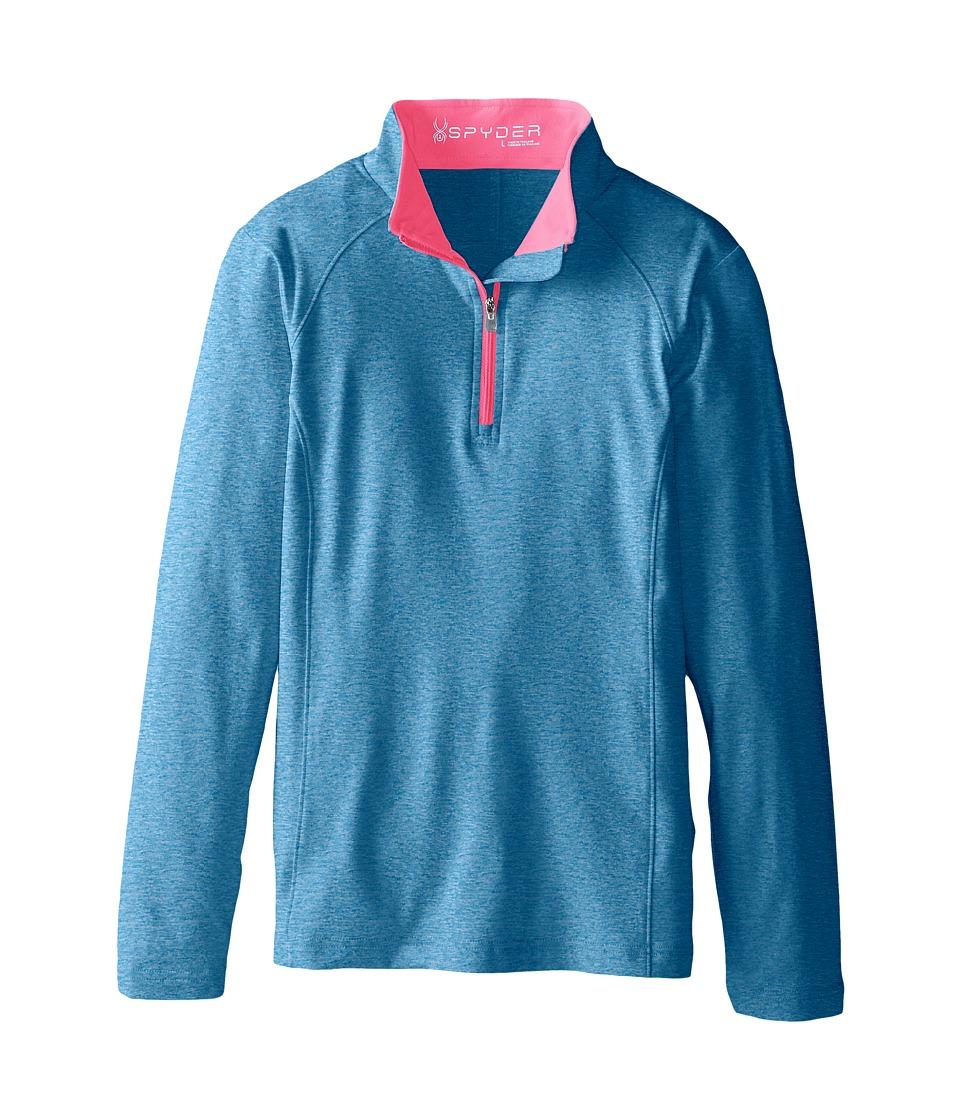 Spyder Kids - Cameo Poly Stretch T-Neck (Big Kids) (Riviera/Bryte Bubblegum) Girl's Long Sleeve Pullover