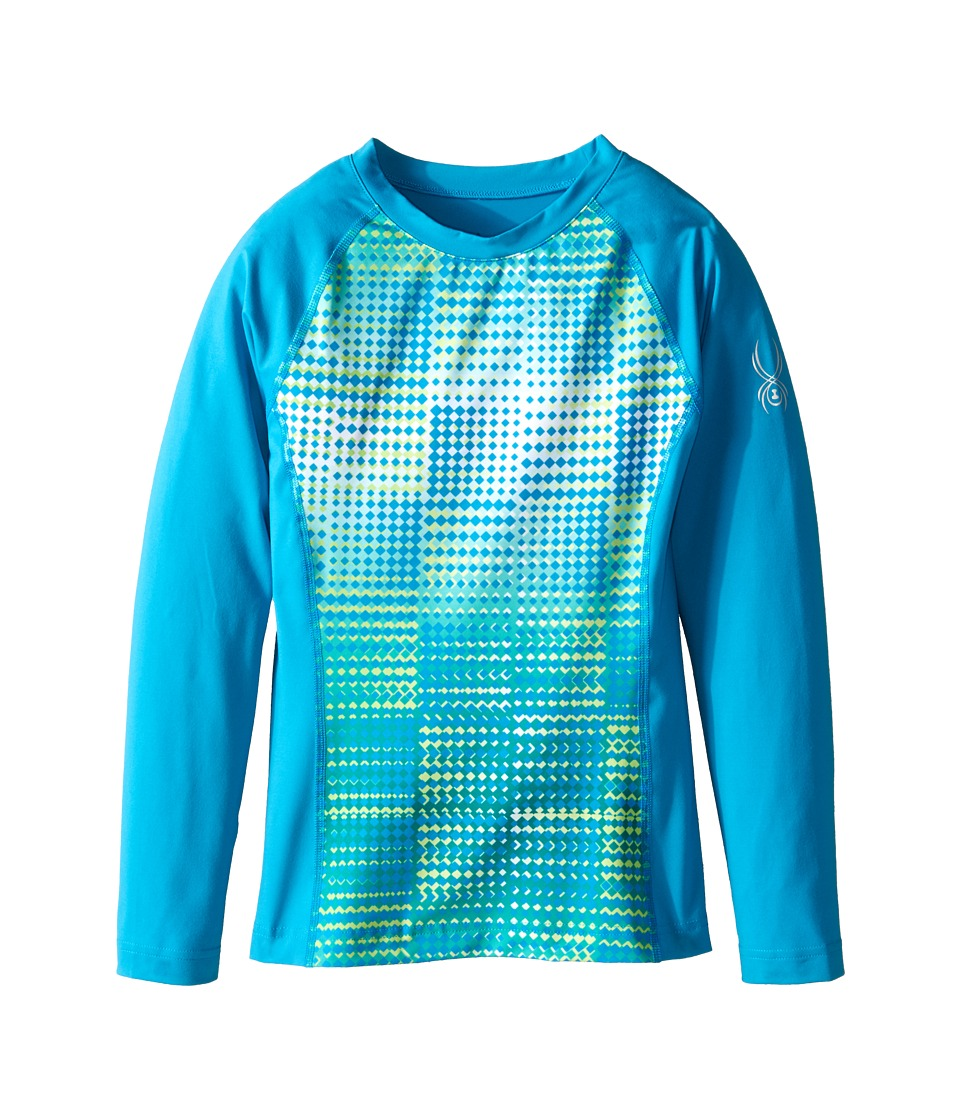 Spyder Kids - Chatter T-Hot Long Sleeve Top (Little Kids/Big Kids) (Riviera Diamond Print/Riviera) Girl's Long Sleeve Pullover