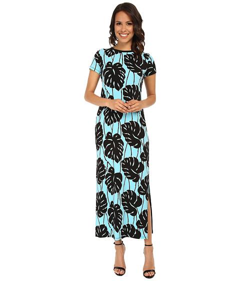 MICHAEL Michael Kors - Tropical Bay Leaf Maxi Dress (Peacock) Women
